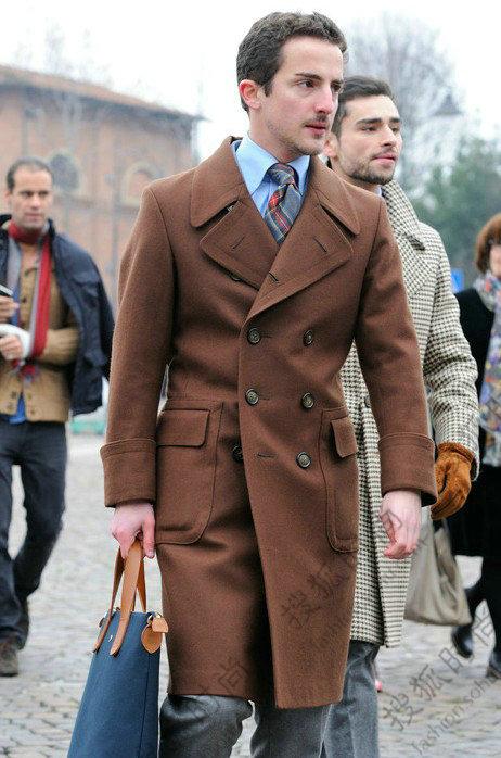 冬季儒雅绅士 遮风必备款大衣搭配