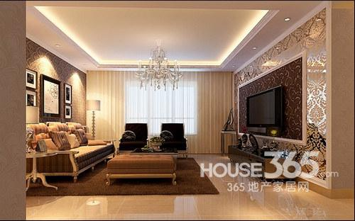 现代客厅装修效果图 :现代欧式格调客厅装修,大气简约的空间,温馨的图片