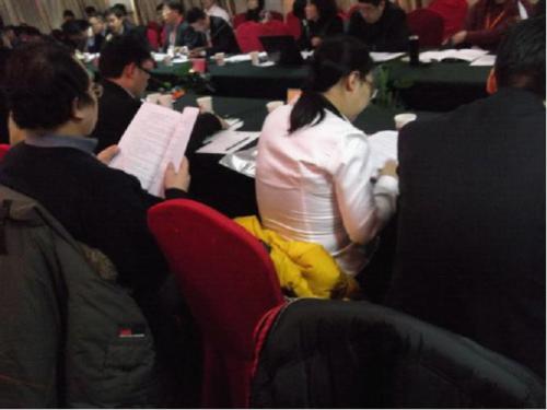 中国担保协会会员代表认真审阅全国P 2 P行业规范管理指导意见
