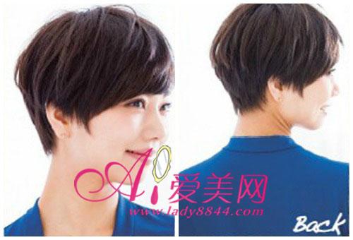 刘海以及女生的头像十分细致短发层次带字a女生短发黑白背影图片