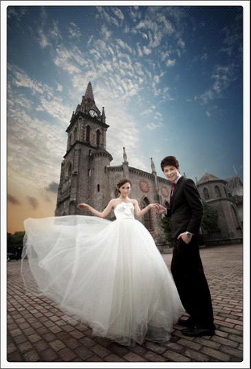 婚紗攝影作品/外灘教堂圖片