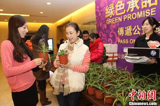 北京废旧办公用品换绿植吸引都市白领