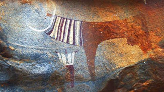 铭刻在石头上的古老艺术 非洲岩画