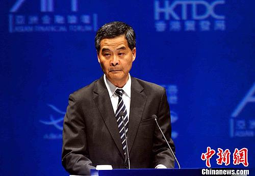 香港特区行政长官梁振英 今日公布首份施政报