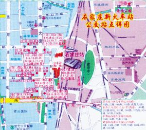 轨道交通线,新火车站登上新版石家庄地图(图)图片