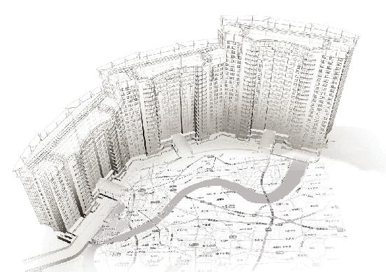 未来科幻别墅手绘素描