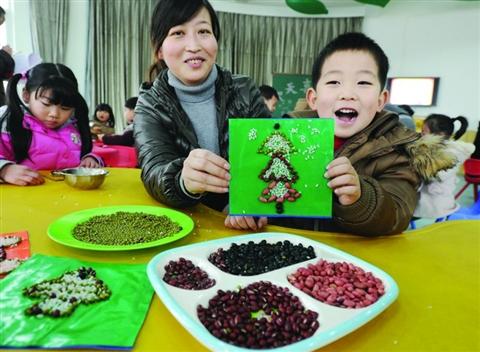 泰州市艺术幼儿园开展 五谷杂粮画 比赛