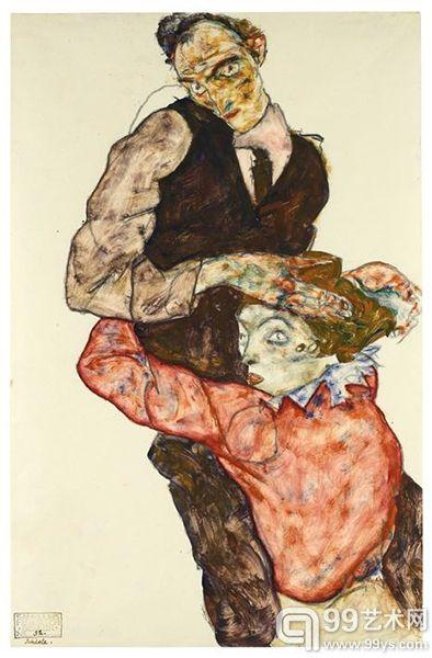 席勒/埃贡席勒之《恋人(与威莉的自画像)》