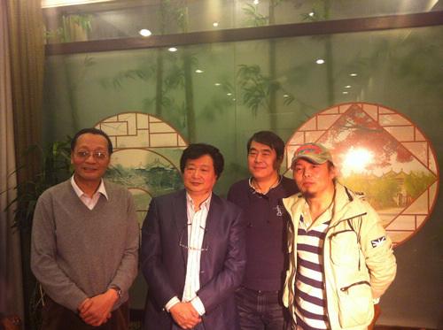 左起,金兆钧,吴海岗,朱一功,周亚平