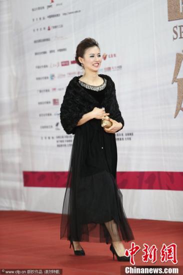 1月19日,北京,2012CCTV体坛风云人物颁奖典礼。图为徐莉佳 。CFP视觉中国
