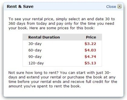 亚马逊网店低调推出租书服务 可节省80%费用