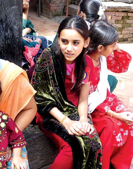 美丽的尼泊尔少女