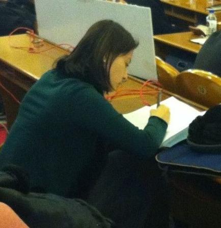 刘芳菲做笔记