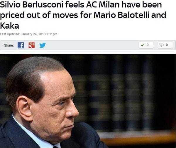 贝卢斯科尼宣布弃购巴神