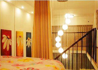 45平米复式楼装修效果图 小情侣的爱家甜蜜十足高清图片