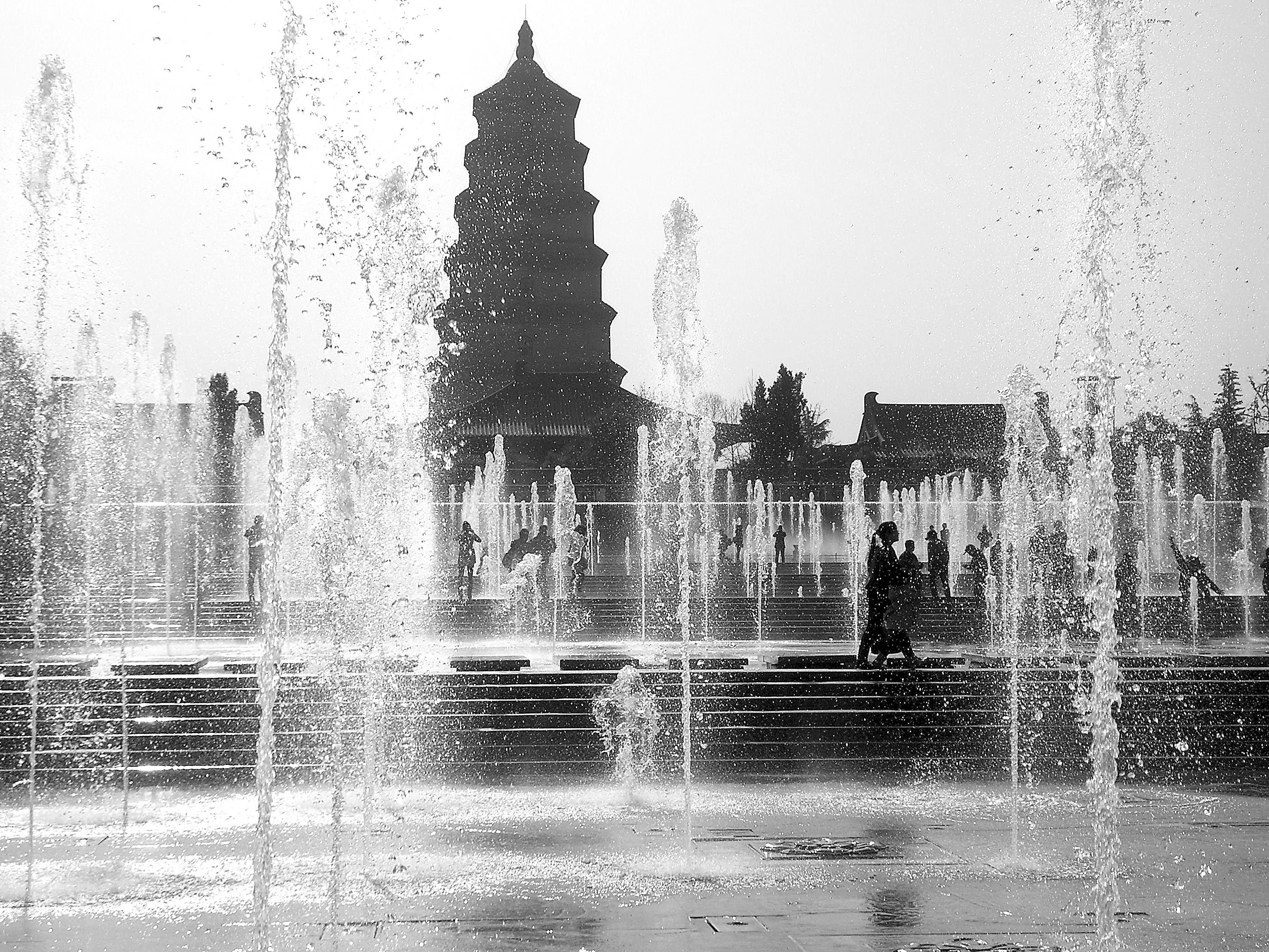 西安大雁塔音乐喷泉(组图)