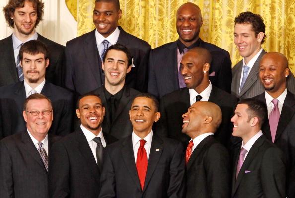 里根总统,克林顿总统,布什总统以及奥巴马总统都在白宫接见过nba总
