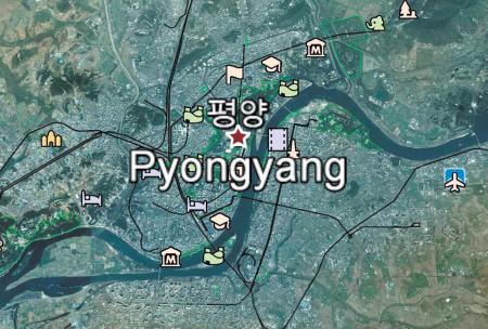 谷歌新增朝鲜地图详细数据 包含街道名称等(图)