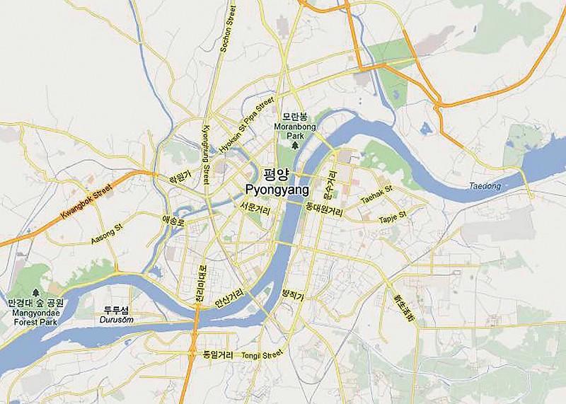 谷歌地图增朝鲜街区信息