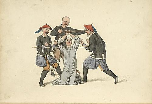 西方人绘画描述中国古代的酷刑 组图