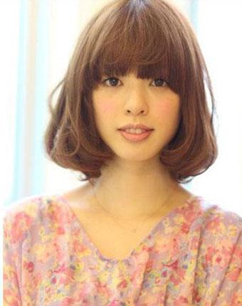 2013精致中短发短发减龄内扣式图片头最新修梨花发型少女小a短发头像图片