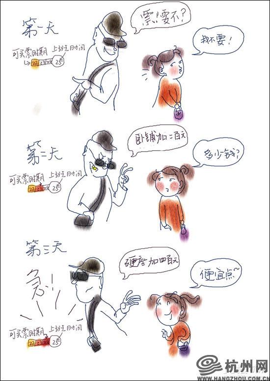 """""""人在囧途""""——网友手绘漫画吐槽春运那些事(组图)"""