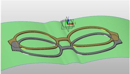 从上图您看到,完成设计后的实体的所有面都是跟曲面的方向是一致的,达到了预期设计要求效果。