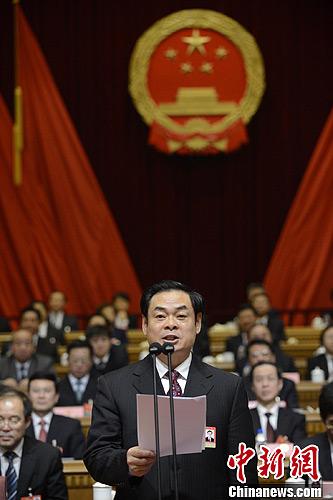 吉林省第十二届人民代表大会第一次会议1月31日闭幕,会议选举王儒林为吉林省人大常委会主任。中新社发 张瑶 摄