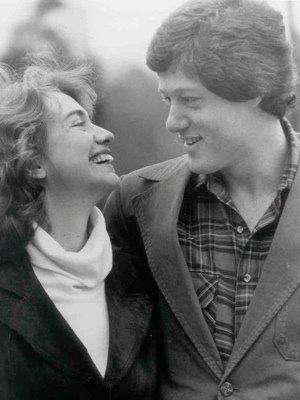 希拉里和克林顿年轻时候的照片高清图片