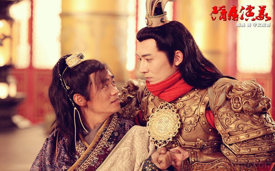 在新版《隋唐演义》中,陈昊扮演的宇文成都与王宝强扮演的李元霸是一