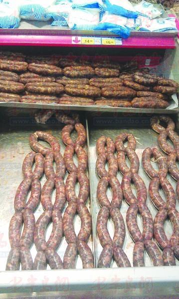 价格超市里的猪肉相当,部分与猪肉价格购买.灌肠鸡爪那里便宜图片