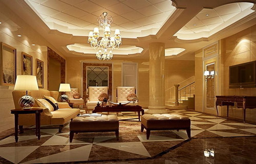 欧式客厅装修效果图 20款气质空间高品质享受图片