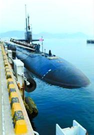 参加军演的美国核潜艇
