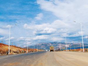 配套项目中石油西环线已建成通车。