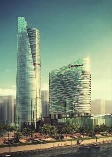 长沙最高楼效果图_湖南最高建筑封顶长沙滨江CBD(图)-搜狐滚动