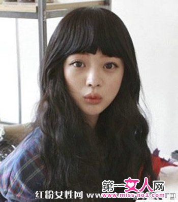 a时尚不均2013最新头发时尚发颜色v时尚烫发发韩式染长卷可人图片