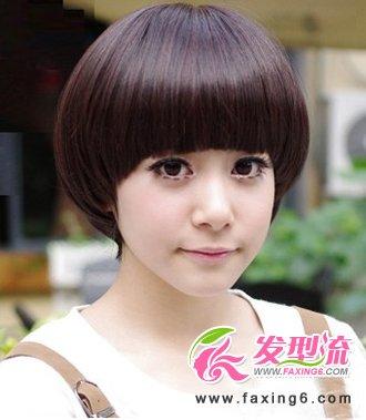 短发发型图片2014女的图片 (330x379)-蘑菇头短发发型图片图片
