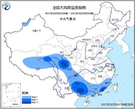 强冷空气影响江南华南 长江中下游地区有较强降雪
