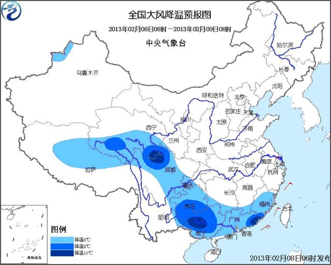 气象局:长江中下游地区雪纷飞 南方将持续雨雪