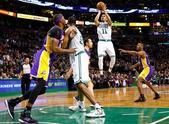 图文:[NBA]湖人不敌凯尔特人 考特尼-李投篮