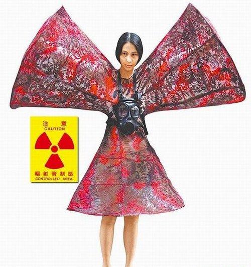 女学生设计核灾惊悚装 凸显灾后人体畸形