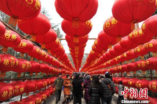 2月15日正月初六,春节七天假期的最后一天,而中国古城正定庙会依然人山人海。市民在这里品民俗,享年味儿,享用着最后的假日。中新社发 翟羽佳 摄
