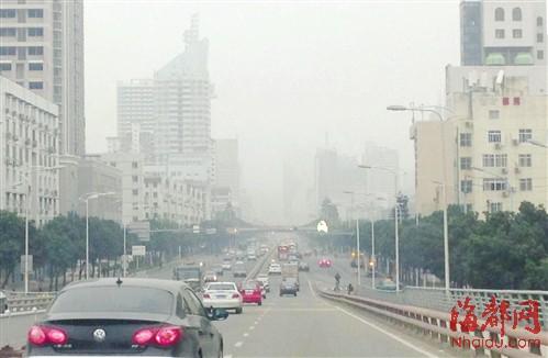 昨日福州大雾弥漫
