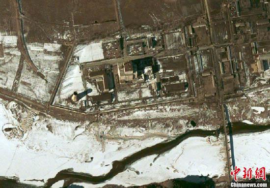 资料图:据称是朝鲜第三次核试验现场的卫星图片。