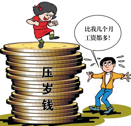 孩子压岁钱抵妈几月工资 建议家长借机教孩子理财
