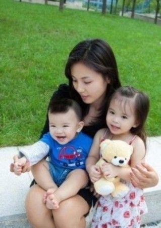 刘涛和一对儿女
