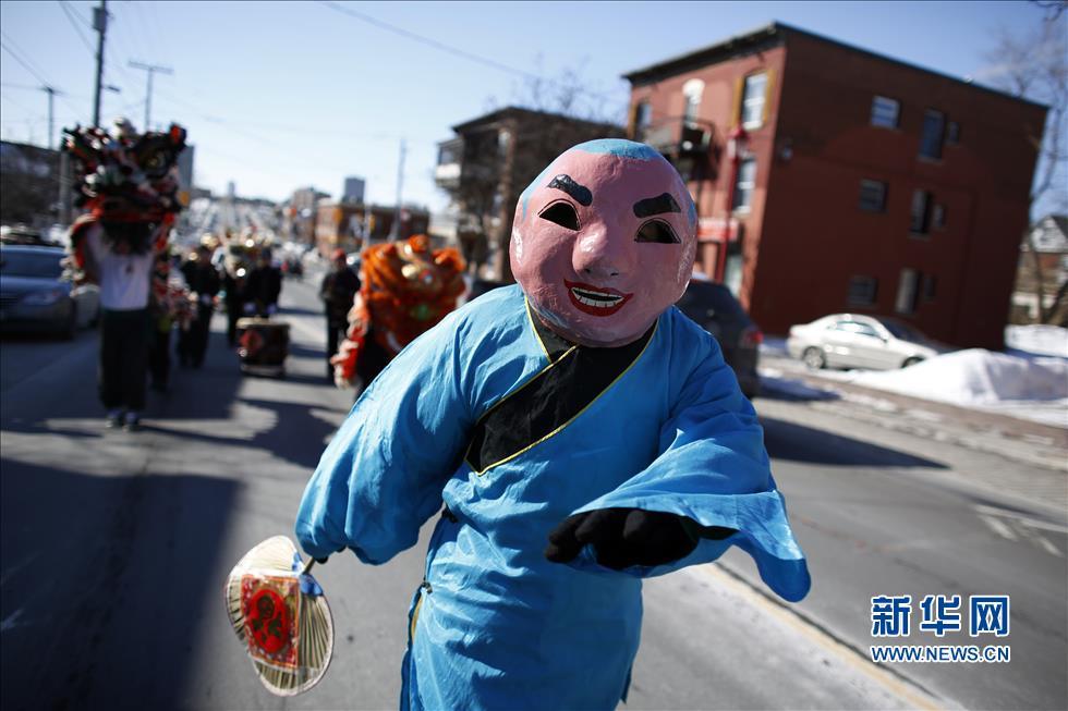 渥太华/加拿大渥太华唐人街舞龙舞狮喜迎蛇年新春(组图)
