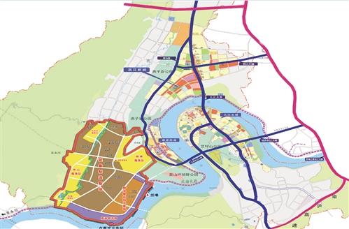 成渝高速 缙云山脉外环高速 九龙坡区 德感工业园规划图