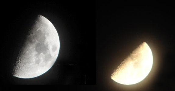 """天宇出现""""木星合月""""天象(图)"""
