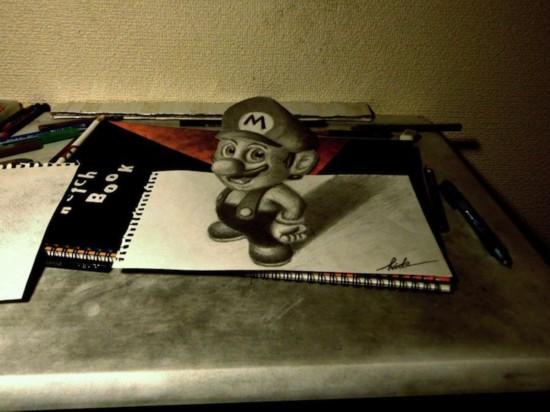 3d画手绘铅笔